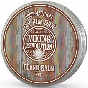 Beard Balm with Bay Rum Scent and Argan & Jojoba Oils - Styles, Strengthens...