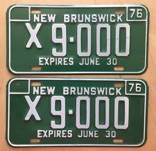 "NEW BRUNSWICK 1976  QUARTER YEAR COMMERCIAL  LICENSE  PLATES  PAIR "" X 9 000"""
