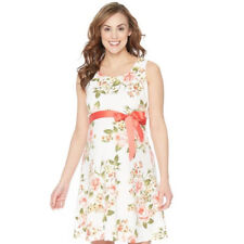 Oh Baby By Motherhood Maternity New White Rose Sleeveless Floral Dress Sz XL