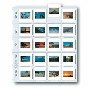 Print File 2x2-20B 25 35mm Slide Pages Archival Storage Sheets for 20 Slides