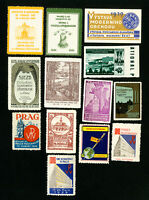 Czechoslovakia Stamps XF 13 Different Rare Old Labels