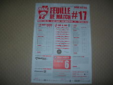 Feuille de match N°17 ASNL  Nancy - Evian Thonon Gaillard (2012-2013)