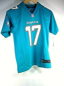 Nike NFL Miami Dolphins Ryan Tannehill Aqua Home Youth Boy's Jersey Size M 10-12