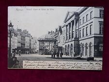 Carte Postale Belgique, Namur, Grand Place et Hótel de Ville, 1906 nach Ostende