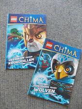 2 boekjes Lego Legends of Chima 2013 - Adelaars tegen wolven / Leeuwen tegen