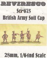 Englische Infanterie - Soft Cap - 1. Weltkrieg - 5 Zinnfiguren - 1:64 - neu OVP