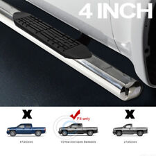 "4"" SS CHROME SIDE STEP NERF BARS RUNNING BOARDS 99-18 SILVERADO/SIERRA EXTENDED"