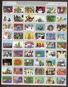 USA STAMPS- Christmas seal stamps  1980, complete sheet of 54     MNH**