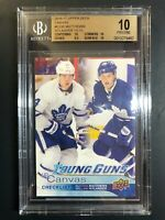 2016-17 Upper Deck Auston Matthews William Nylander Young Guns Canvas CL BGS 10