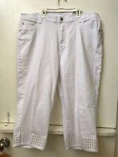 bf143270f57d6 Catherines Plus Size Eyelet White Capris Pants Size 22W NWT