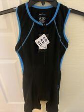 RunBreeze Women's Triathalon Suit Black Quick Dry Cycle Bike Run Swim LAR NWT!