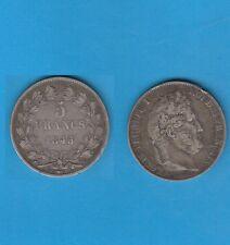 µ Gertbrolen µ  Louis-Philippe  5 FRANCS Argent tête laurée 1845 Lille Ex N° 2