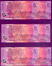 $5 SPECIAL  NARROW BAND NOTES 95  (6) : IDENTICAL NUMBERS LOW  RESERVE !!!!