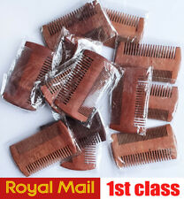 1 X Pocket Natural Comb Wooden Brush Wooden Wide Tooth Comb