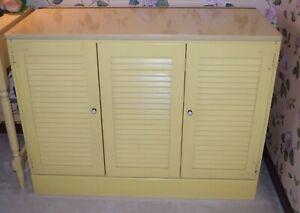Ethan Allen media cabinet storage cabinet light yellow