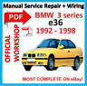 #FACTORY WORKSHOP MANUAL service repair FOR BMW series 3 E36 M3 1992-1998 Wiring