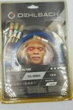Oehlbach 130701 XXL No Limit Picture Component Video Cable 1m Blue