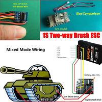 1S Two-way Brush ESC Motor Speed Controller 3.6-5.8V Regulator for RC Tank Model