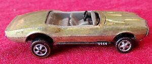 1967 Hot Wheels Redline Custom Firebird Made in Hong Kong Gold w/Gray Interior