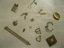 Lot of 14-Vintage Costume Jewelry, compacts, and other collectible items