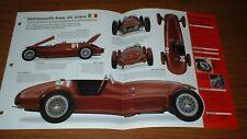 ★★1948 ALFA ROMEO 6C 2500 N/D SPEC SHEET BROCHURE INFO PHOTO★★