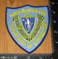Massachusetts Department of Correction Police Cloth Patch Only