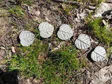 "1 1/2"" Cement Leaf Fairy Step 5pc Set Garden Concrete Fairie Leaf Stepping Stone"