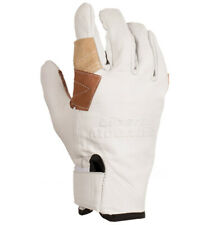 Natural Goat Skin Rappel Gloves (LG, Beige) by Liberty Mountain