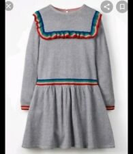 Nwt Mini Boden girls Marl grey Sparkle Sparkle Knitted Dress Size 7-8