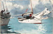 Winslow Homer Watercolor Reproductions: Fishing Boats, Key West: Fine Art Print