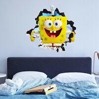 SpongeBob SquarePants Custom Wall Decals 3D Wall Stickers Art - JO497