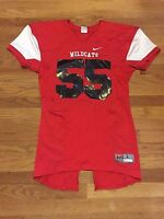New Nike Men's Large Pro Combat Speed Wildcats Football Jersey Red $75