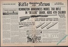 1953 REMINGTON  Model 760 RIFLE Centerfold AD Old Gun Advertising