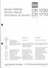 Dual Service Manual für CR 1730 / 1710