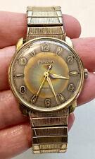 1961 BULOVA M1 Mens Mechanical Hand Wind Watch 10K RGP Case 10KGF Stretch Band