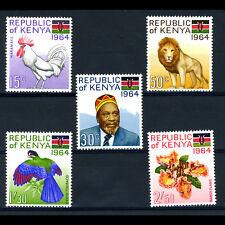 KENYA 1964 Republic. 5 Values. SG 15-19. Mint Never Hinged. (BH314)