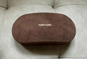 NEW Tom Ford Hardcover Glasses Velvet Brown Case / Cleaning Cloth