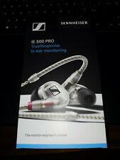 Sennheiser IE 500 PRO In-Ear Headphones For Wireless Monitoring Systems Clear