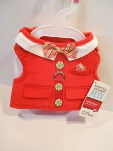 Martha Stewart Pets Holiday Striped Dog Harness Vest XS & Small available