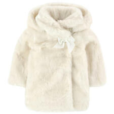 TARTINE ET CHOCOLAT BABY IVORY FAUX FUR COAT JACKET 2 YEARS