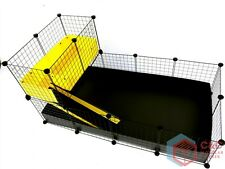 TWO TIER GUINEA PIG C&C CAGE 4x2 + LOFT + RAMP - 2 CORREX TRAYS INCLUDED