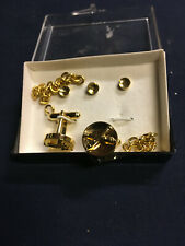 with Military emblem gold Cuff Links