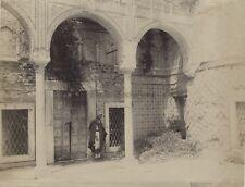 Tunisie Tunis Ancienne maison Mauresque Photographie Vintage Albumine c1880