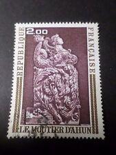 FRANCE 1973, timbre 1743, BOISERIES DU MOUTIER D AHUN, oblitéré PAINTING