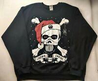 Crown The Empire Pullover Sweater XL Metalcore Band Evil Santa Skull Black Widow