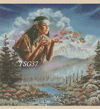 Cross Stitch Chart - Native American Indian Girl No 277 TSG37