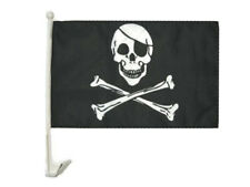 "12x18 Jolly Roger Pirate Eye Patch Car Window Vehicle 12""x18"" Flag"