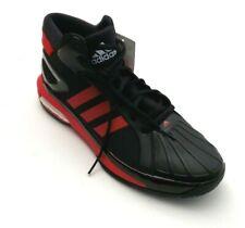 Adidas Men SM Futurestar Boost Basketball Shoes Black/Red Stripe Size 17