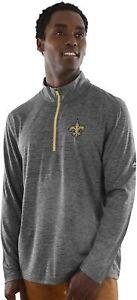 New Orleans Saints Men's Intimidating Performance 1/2 Zip Top Jacket - Charcoal