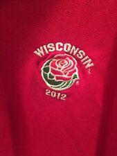 Wisconsin Badgers 2012 Rose Bowl short sleeve Men's polo shirt vs Oregon XL